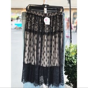 Dresses & Skirts - Noir Lace Skirt